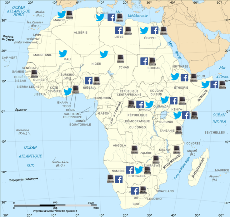 website twitter and face in africa