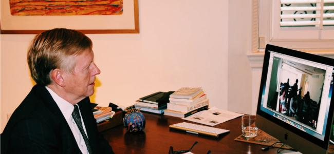 Amb. Aas is reaching out to American students via the Embassy's Virtual Ambassador Program (VAP)
